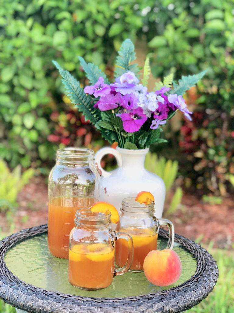 Black Tea Peach Lemonade Recipe Image
