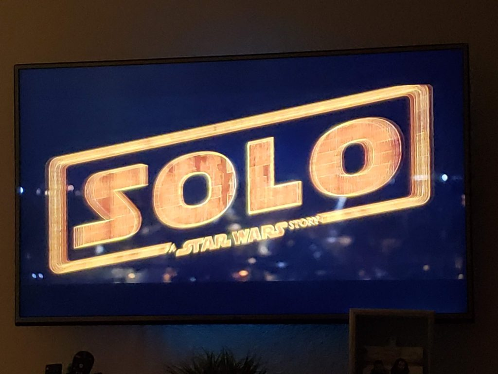 Solo A Star Wars Story Movie Night