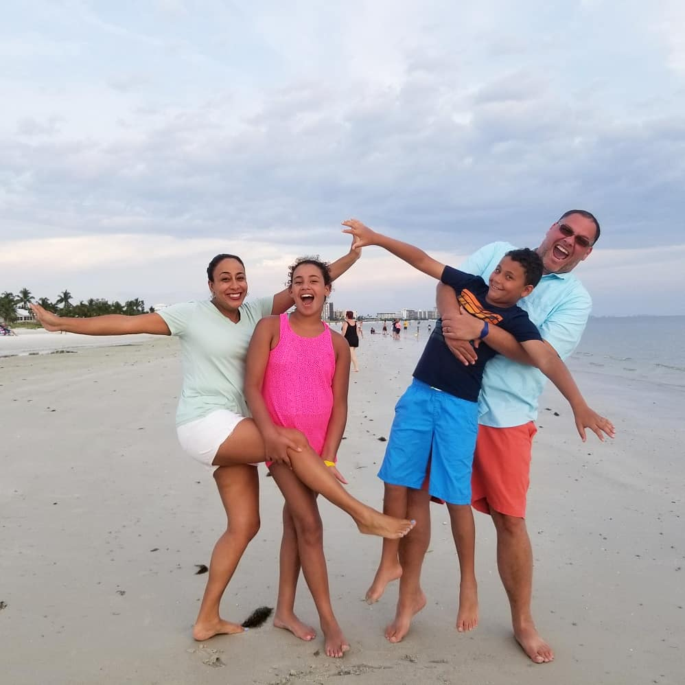 Family at Fort Myers Beach