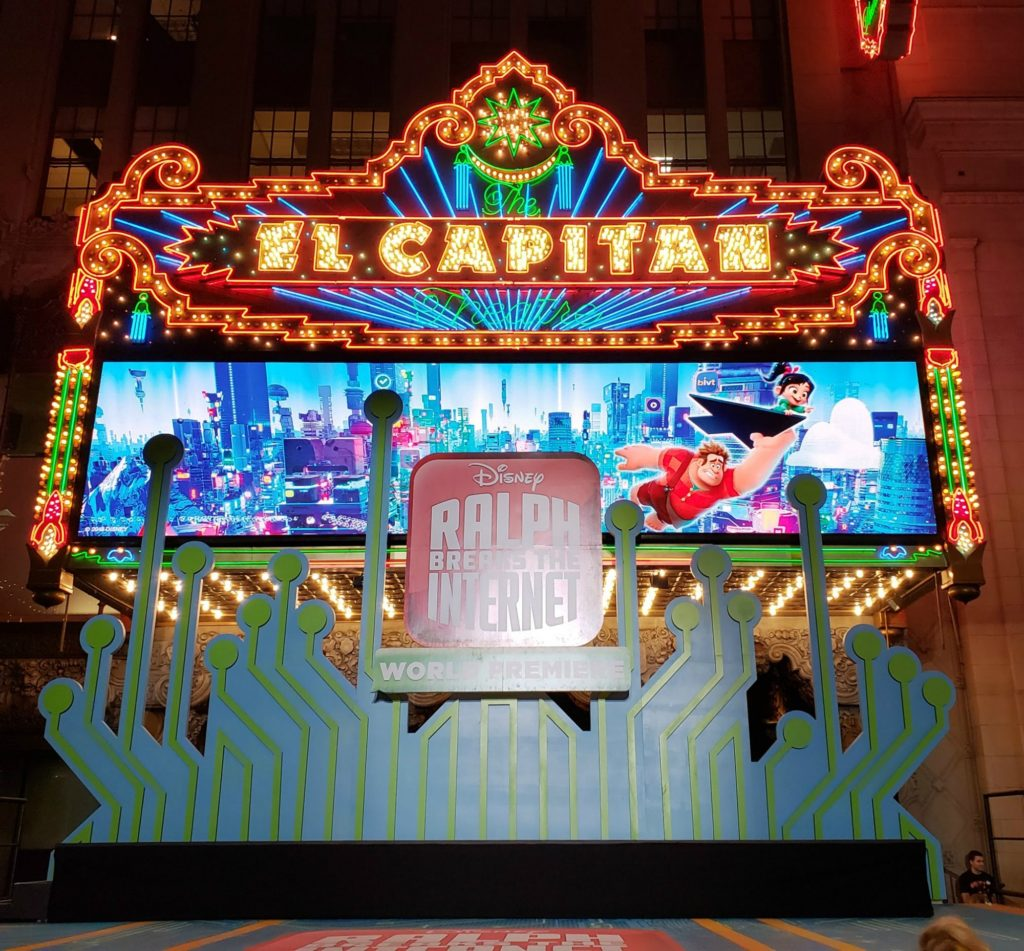 Ralph Breaks The Internet Premiere at El Capitan Theatre