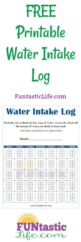 Printable Water Intake Log