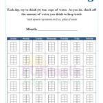 FREE Printable Water Intake Log