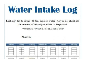 water intake log