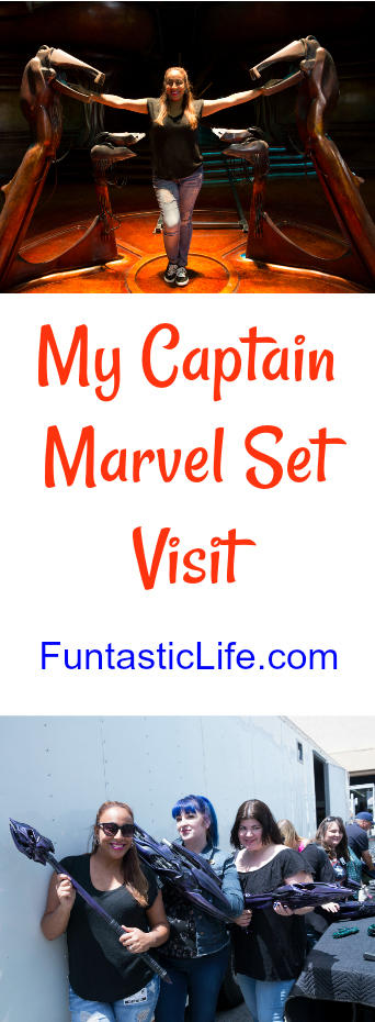Captain Marvel Set Visit