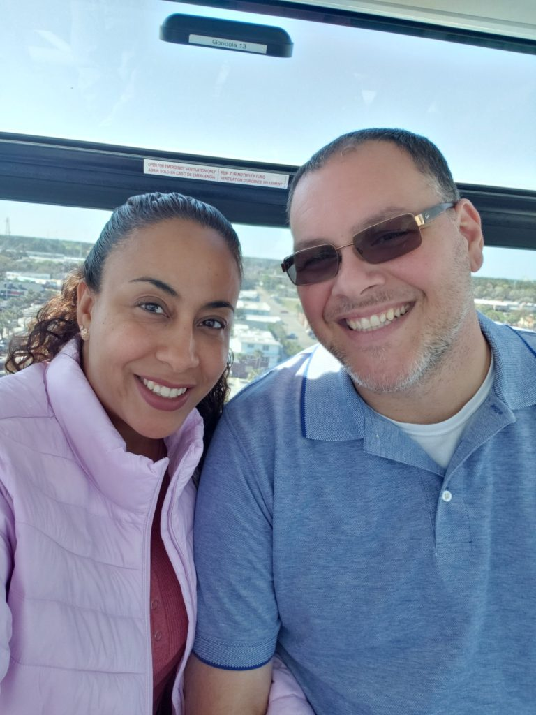 Couple inside SkyWheel