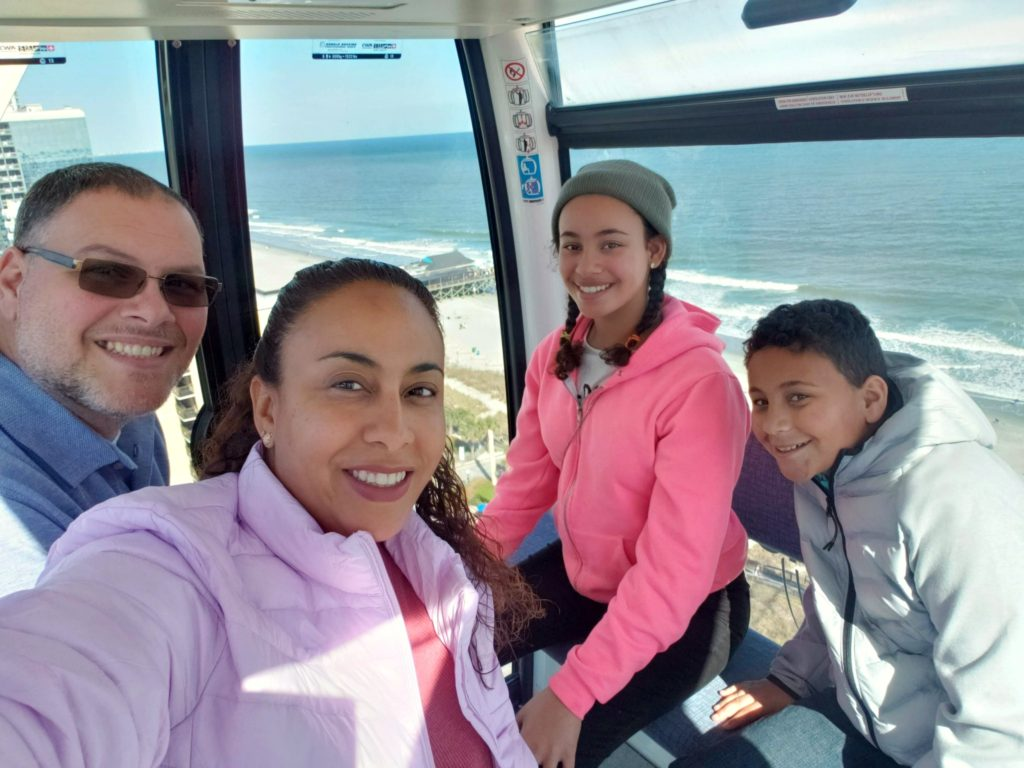 Family inside SkyWheel