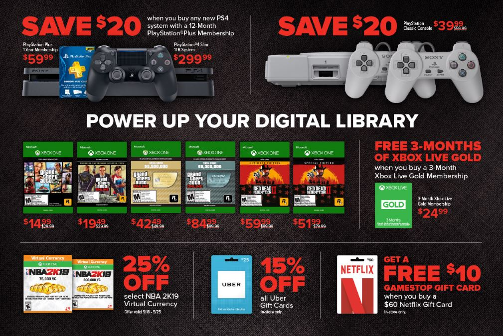 GameStop Sale Flyer