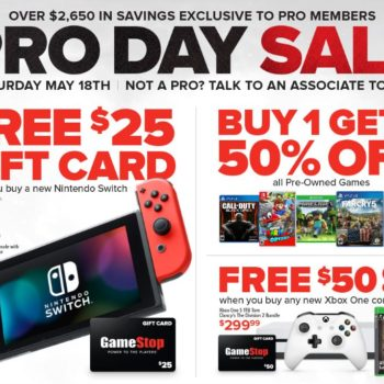 Take Advantage of GameStop's PRO Day Sale on May 18th!!!