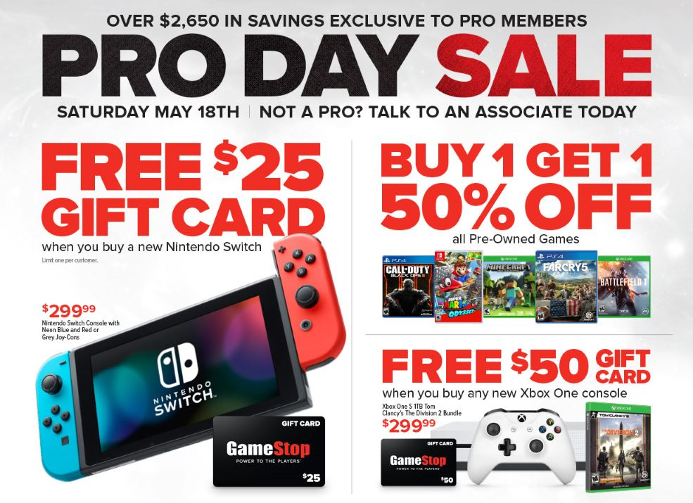 Take Advantage Of Gamestop S Pro Day Sale On May 18th Funtastic Life