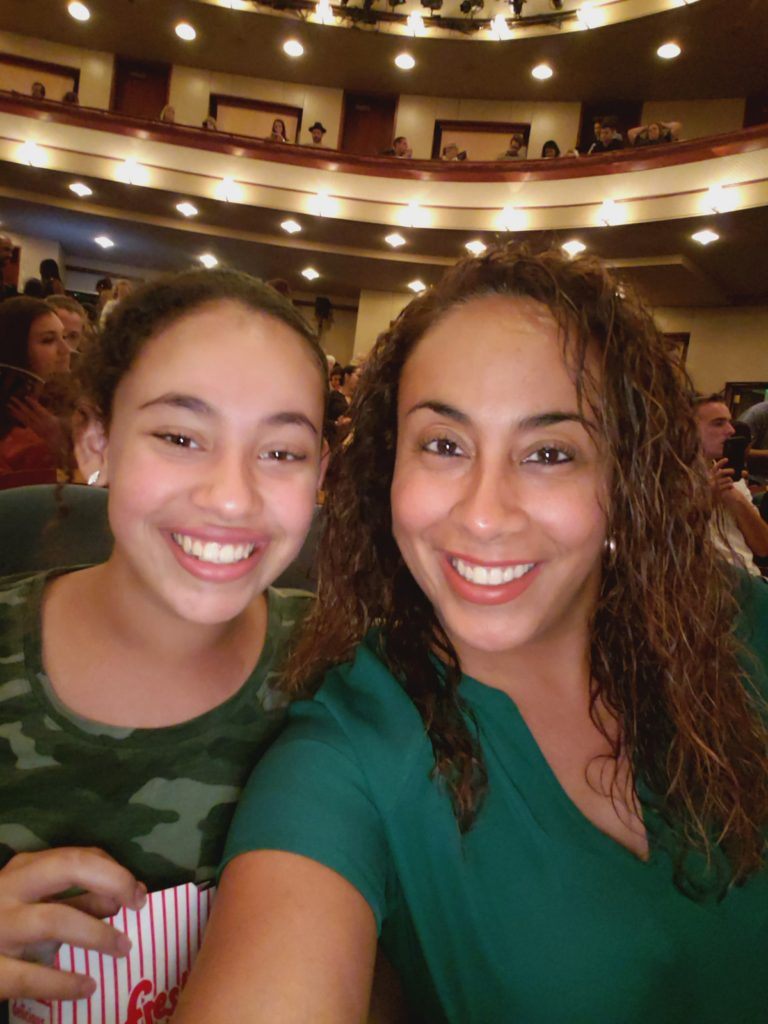 Mother and daughter at Ladies at the The Lion King Musical