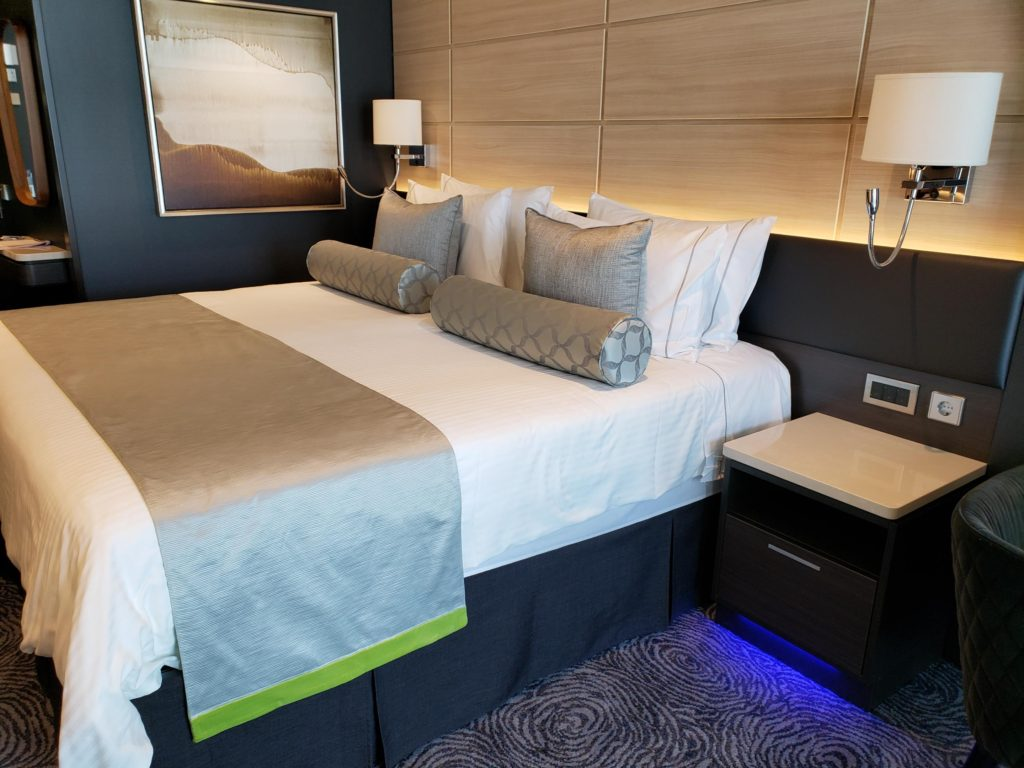 bed inside cruise cabin