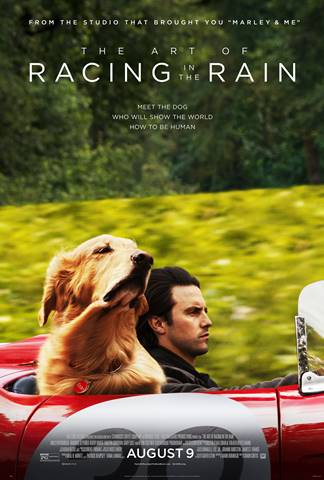 movie poster with a dog in a car