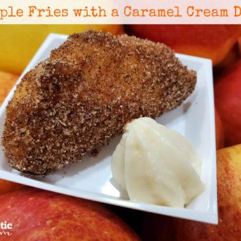 Easy Apple Fries with a Caramel Cream Dip Recipe