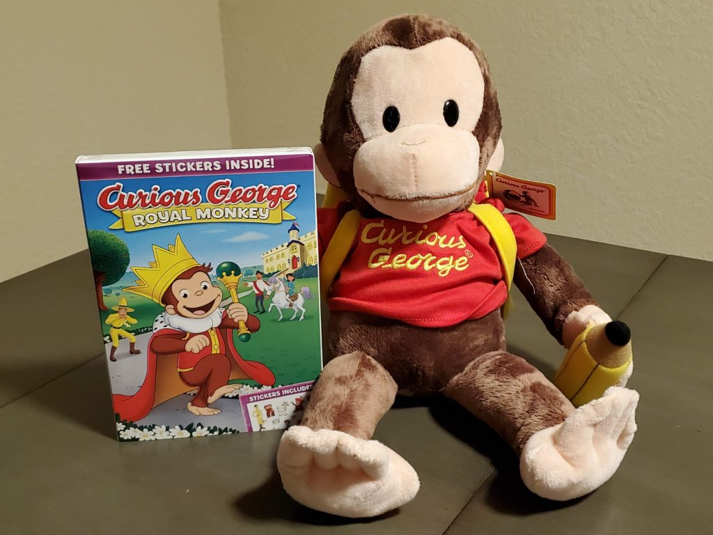 Curious George Stuffed Animal and DVD