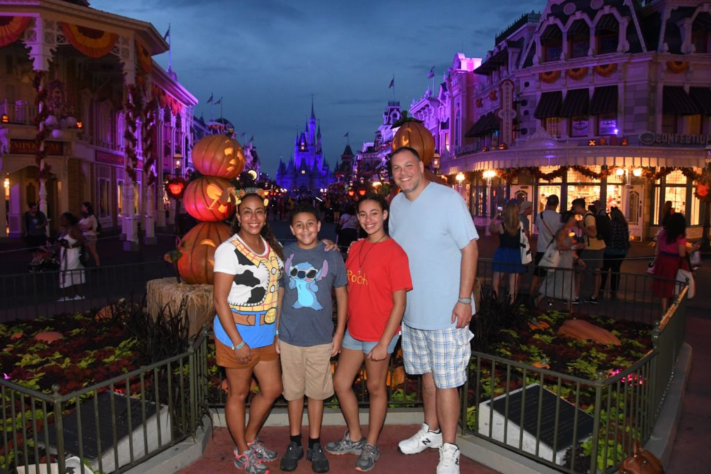 Family at Mickey's Not-So-Scary Halloween Party