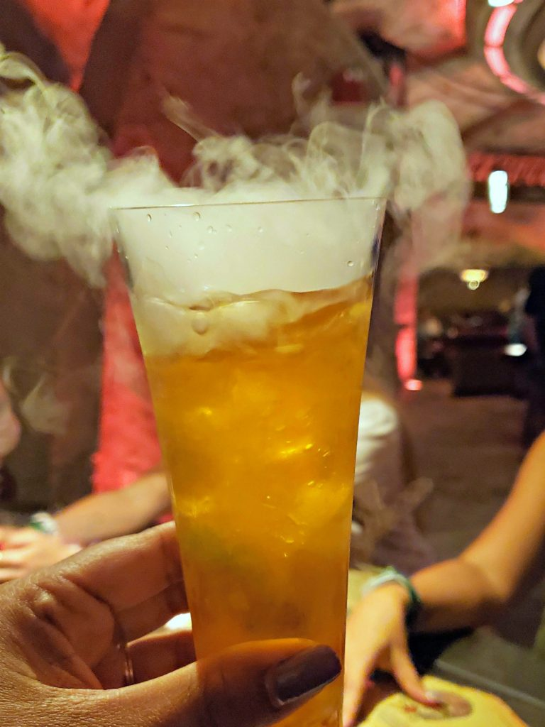 drink with smoke