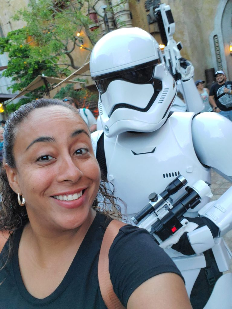 lady with storm trooper