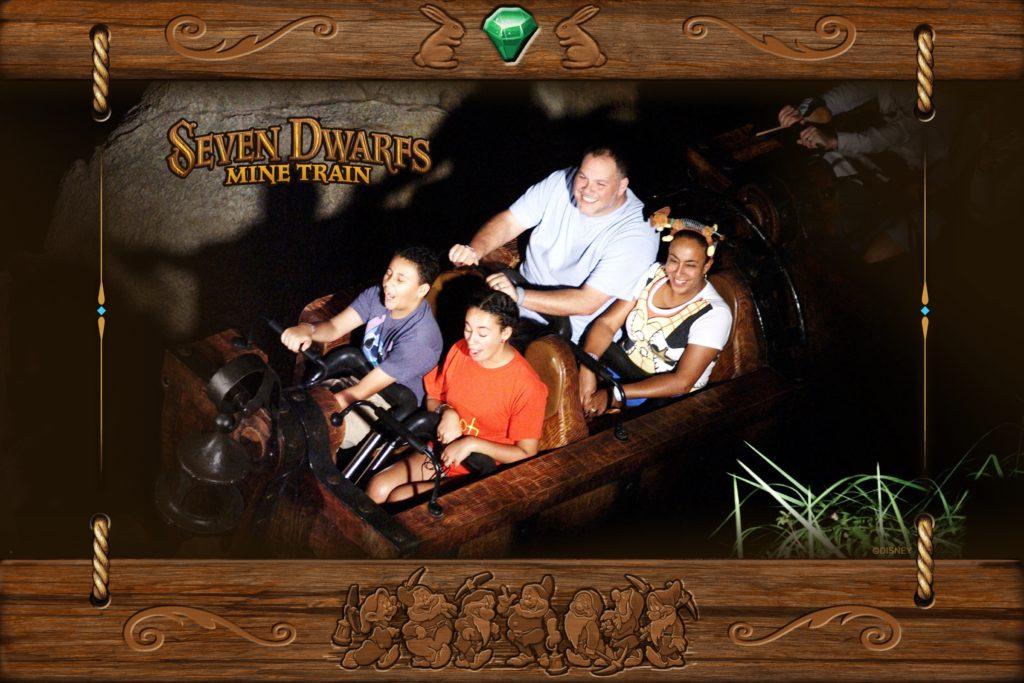 Family on Disney World Ride
