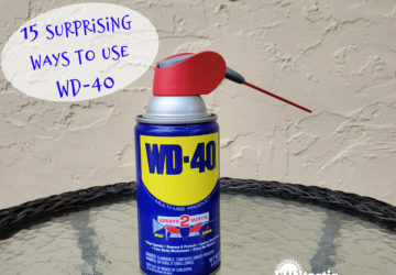 Can of WD-40 on a table
