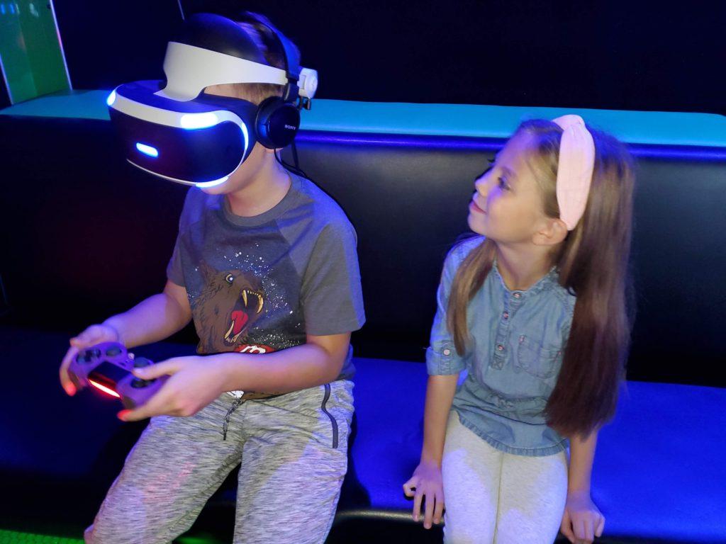 Kids playing VR Game