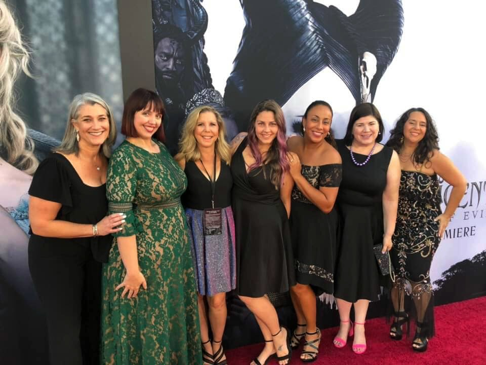 Group of Ladies at Red Carpet Event