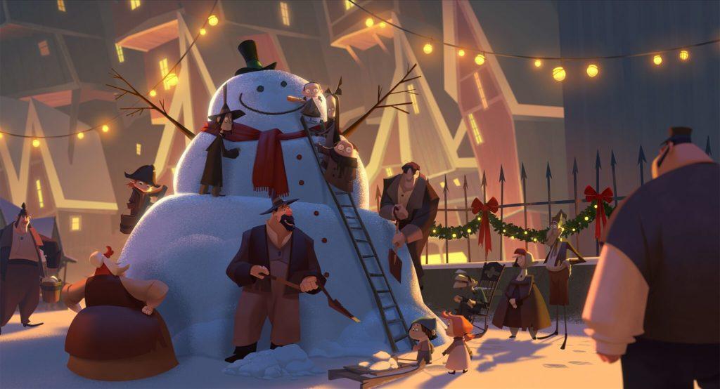 Snowman in Klaus film