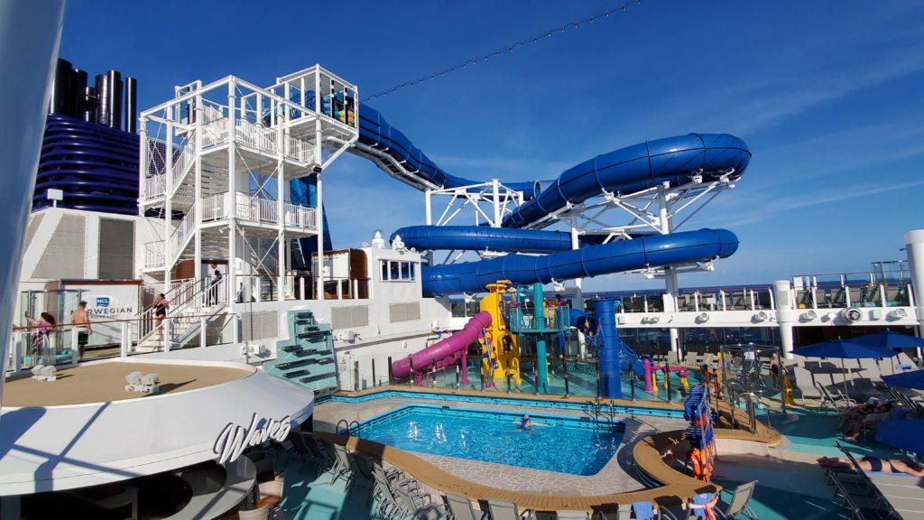 Pool area on a cruise ship