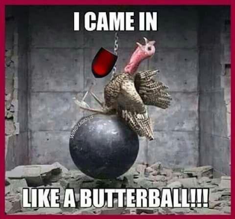 Turkey on a wecking ball