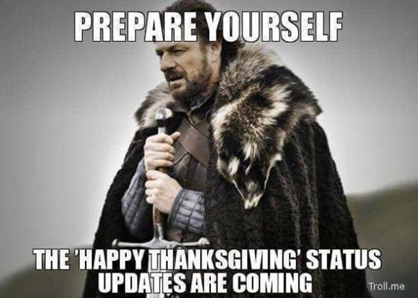 Thanksgiving Status