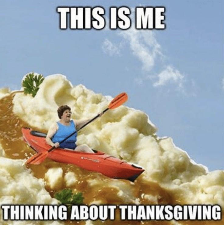 swimming through mashed potatoes
