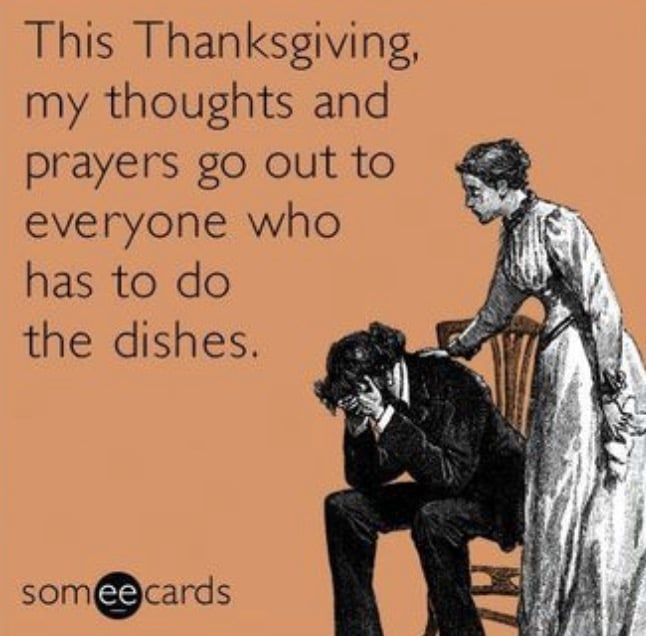 Doing Thanksgiving Dishes