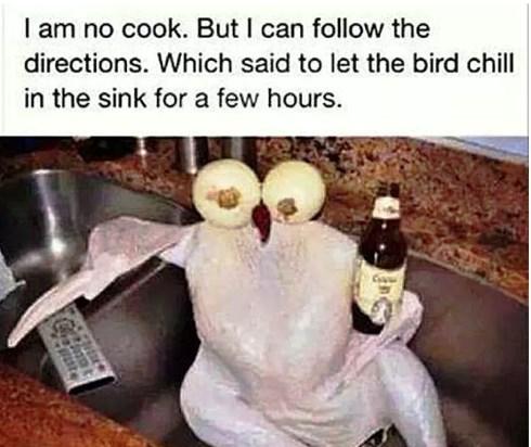 turkey in a sink