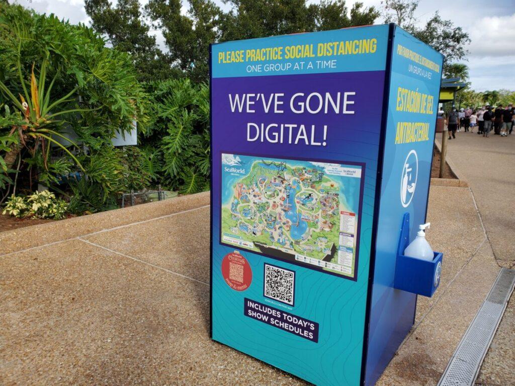 SeaWorld Digital Map Station