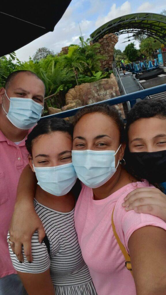 Fernandez Family Selfie with Masks