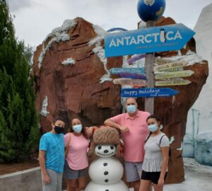 Family pic at SeaWorld