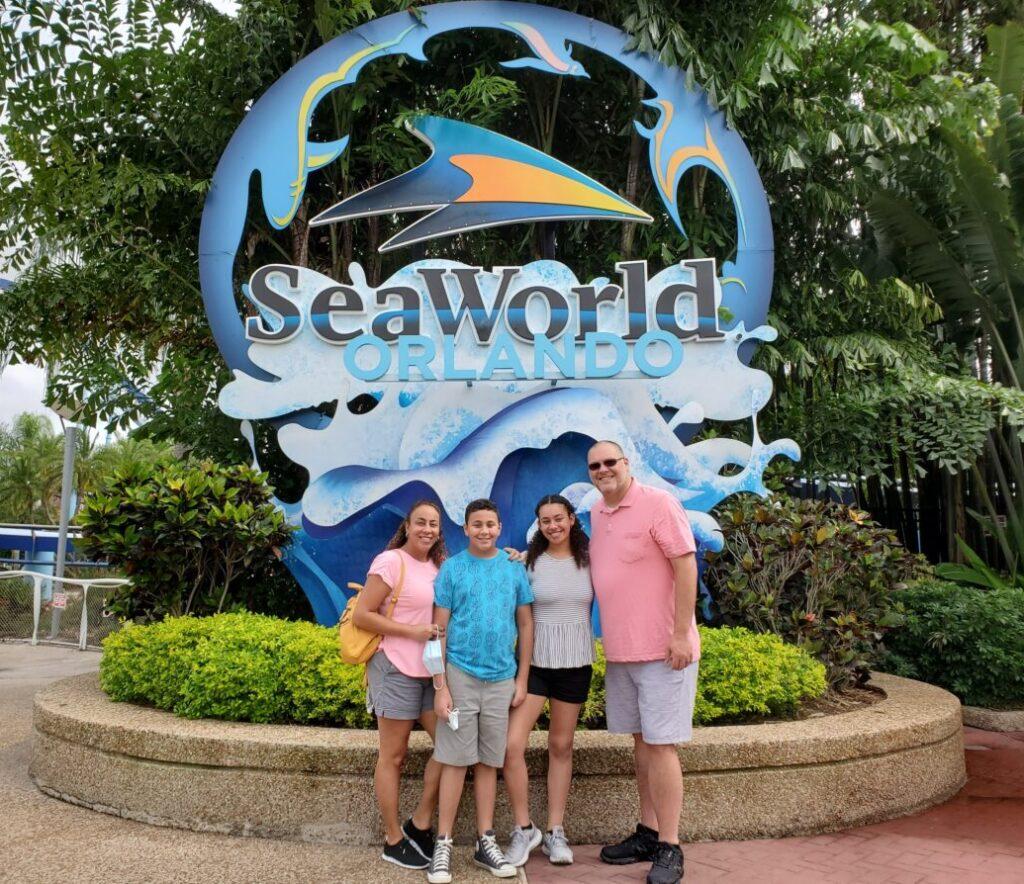 Family at SeaWorld