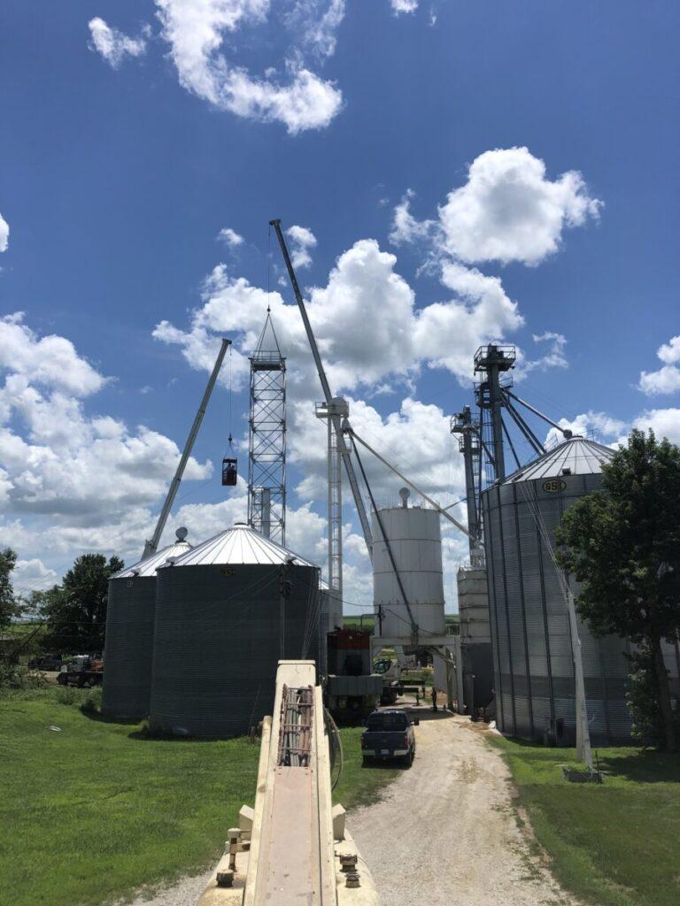 Grain Bins on a farm