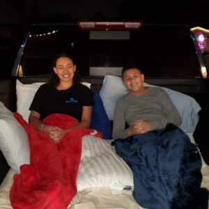 kids on the bed of the 2020 Silverado