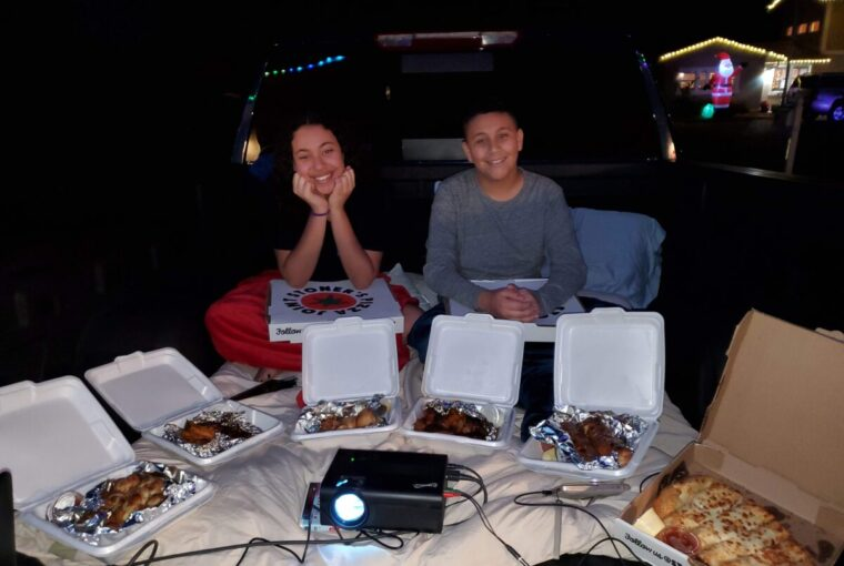kids with take out