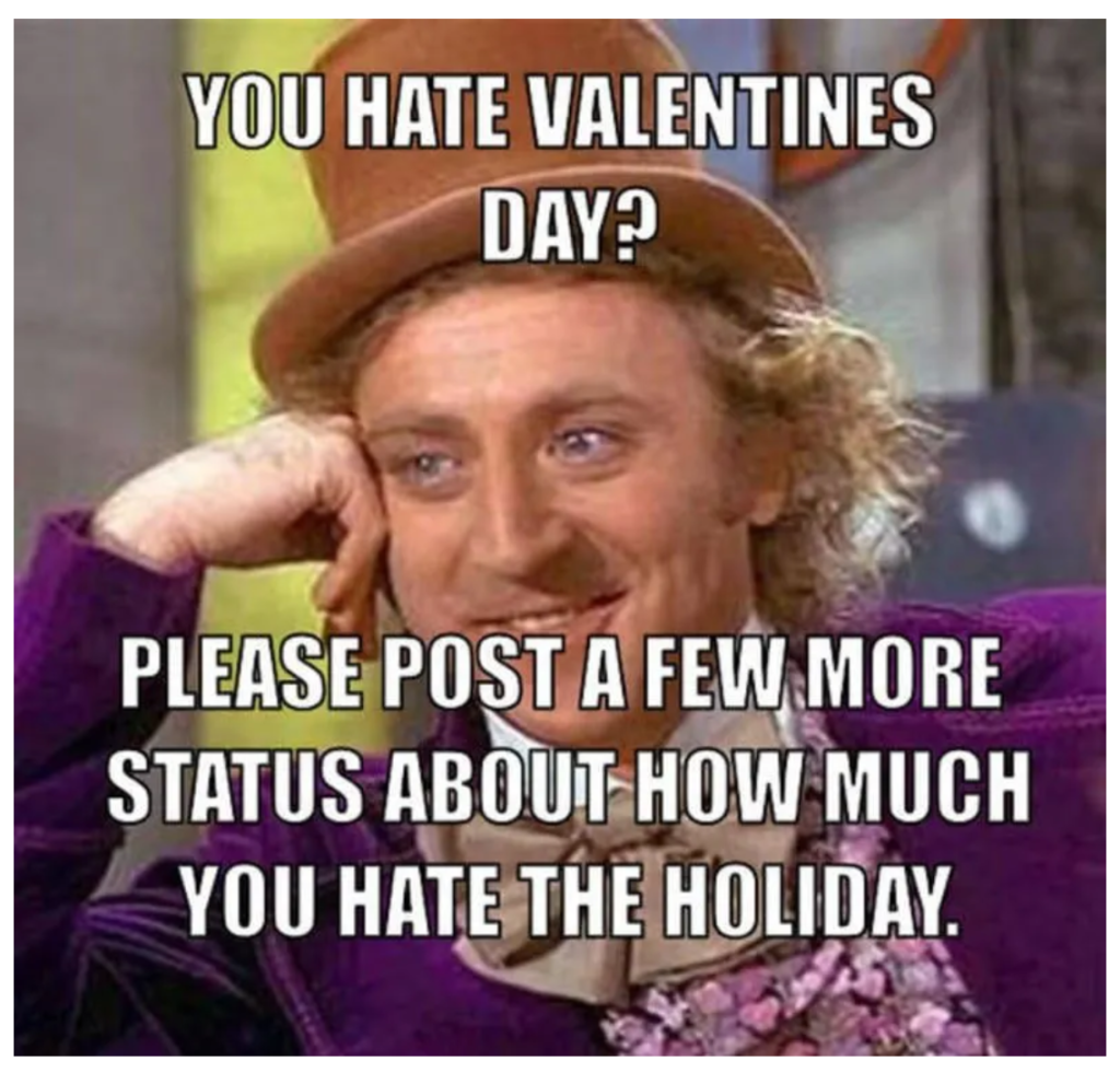 Willy Wonka Valentine's Day Meme