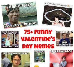 Valentine's Day Memes Collage