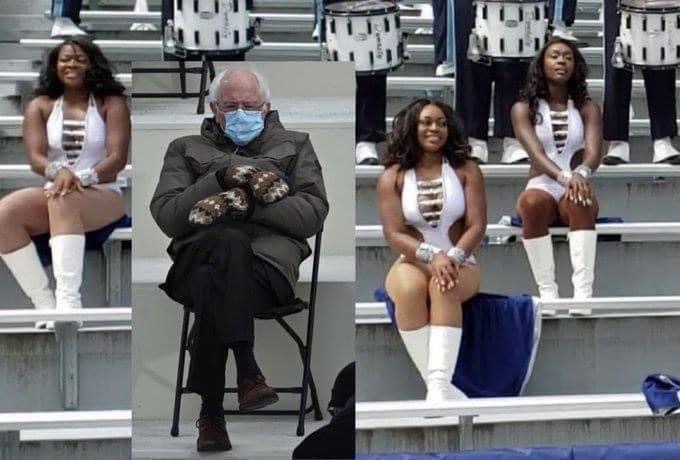 bernie sanders inauguration meme