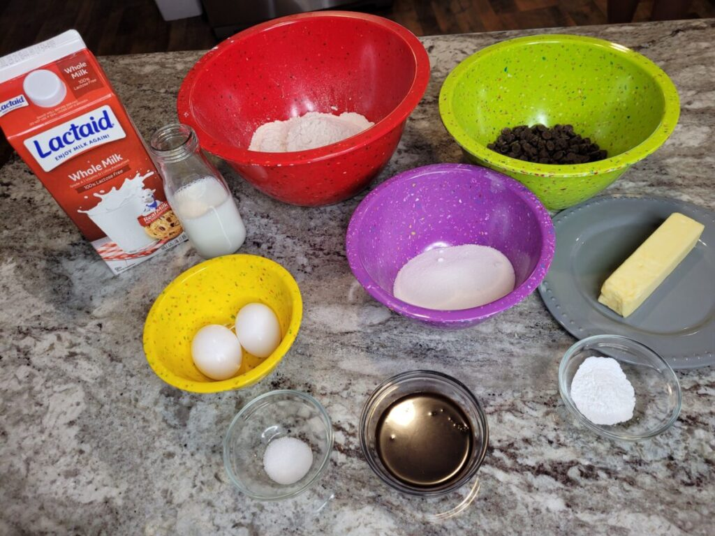 Lactose Free Double Chocolate Chip Muffins Ingredients